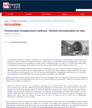 Mesures&tests incorporation